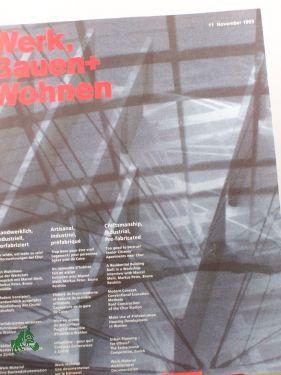11/1993, Handwerklich, industriell, vorfabriziert